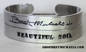 Bret Michaels Signature Aluminum Set of 2 Cuff Bracelets