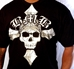 Model View BMB Cross Skull Tee