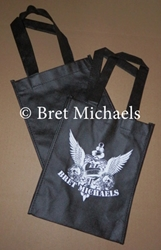 Bret Michaels Heart & Dagger w/Skulls Mini Tote Bag