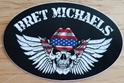 Bret Michaels Winged Skull Oval Sticker (Set of 5)