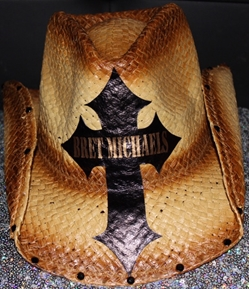 Bret Michaels Tan Cross Cowboy Hat