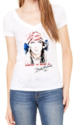 Bret Michaels Burnout V Neck, Vintage Photo