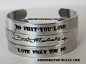 Bret Michaels Signature Aluminum Set of 3 Cuff Bracelets
