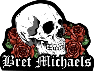 Bret Michaels Skull & Roses Patch