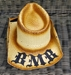BMB Crossed Guitars Cowboy Hat Natural - COWBOYXGTRS-NAT