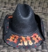 BMB Crossed Guitars Cowboy Hat (Orange/Red/Yellow) - COWBOYXGTRS-OR