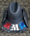 BMB Crossed Guitars Cowboy Hat (Red/White/Blue) - COWBOYXGTRS-RWB