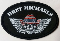 Bret Michaels Red, White & Blue Winged Skull Patch